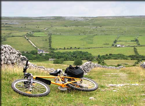 cycling in County Clare in the west of Ireland