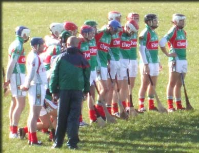 The County Mayo Hurling team which played Kerry in Castlebar in 2010